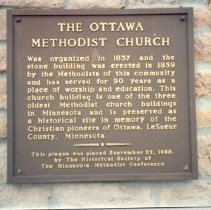 Image of Ottawa Methodist Church plaque