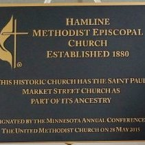 Image of Plaque, Hamline Methodist Episcopal Church