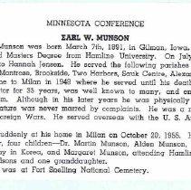 Image of Rev. E. W. Munson memoir