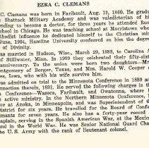 Image of Ezra Clemans Memoir 1