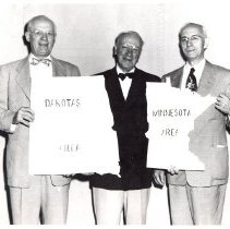 Image of Bishops with Dakota and Minnesota Conference Area signs - 1A Bishop's Office