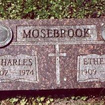 Image of Rev. Charles Mosebrook and Ethel Mosebrook, Missionaries to Malaysia, gravestone, Frontenac, MN - Clergy