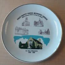 Image of Plate, First Trinity United Methodist Church (with Calvary-Three in One in Christ - Local Church