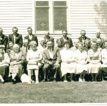 Image of Oak Park Methodist Church Centennial June 5, 1960 group photos, those present who hd been confirmed at Oak Park. - Local Church