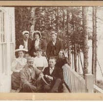 Image of 1890's Group at Pleasant Pond, ME - 2010.1.10