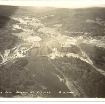 Image of Aerial View of Wyman Dam Site 1929