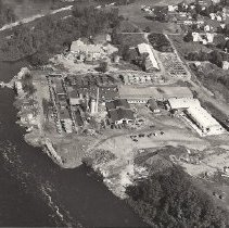 Image of Aerial View of Quimby Mill, Bingham, ME - 2012.10.5