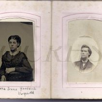 "Image of Madora ""Dora"" Jones  Goodrich / Unidentified Man"