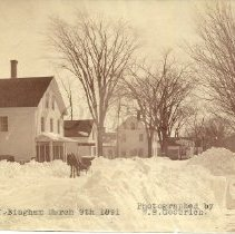 Image of Main St. Bingham, ME - March 9th 1891