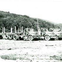 Image of Allen Quimby Veneer Co. Trucks, unloaded - 2012.27.1