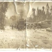 Image of Logging Operation with Lombard - Walter Robinson