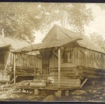 Image of Two Cabins at Carry Pond Camps - 2013.13.7