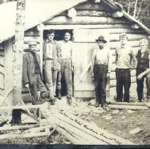 Image of Logging crew at Bald Mountain, 1910 - 2001.1.35