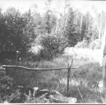 Image of Joseph H. Spaulding at a Camp Site - 2001.1.39