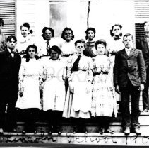 Image of Students at Lincoln School, Caratunk ME 1909
