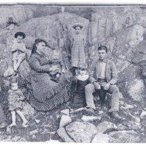 Image of Mrs. Rance V. (Marcia Leighton Barron) Ham and Eight Children - 2005.1.1