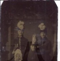 Image of Women and Child in Fancy Dress - Houghton Family Album - 2010.2.11
