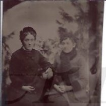 Image of Two Young Women in Winter Dress - 2010.2.21