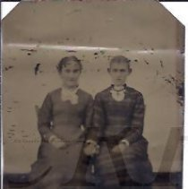 Image of Two Young Women - Houghton Family Album Tintype - 2010.2.28