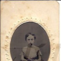 Image of Althea Houghton as a Young Girl - Tintype - 2010.2.46