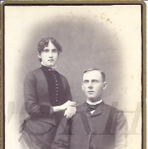 Image of Unidentified Couple - Houghton Family Album - 2010.2.77