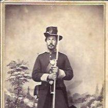Image of Chandler Goodrich in California Militia Uniform - 2010.3.28