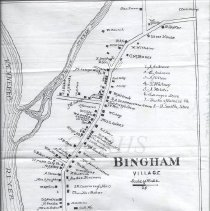 Image of Copy of the Bingham Village Map from the1883 Colby Atlas - 2010.3.73