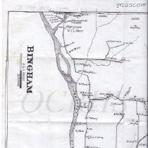 Image of Portion of a Copy of the 1883 Colby Atlas Map of Bingham ME