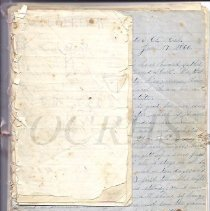 Image of Bound Letters of Milford Goodrich, 1859-1862 - 2010.3.76