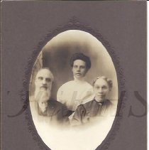 Image of Lyman M. and  Mary (Goodrich) Baker, with Daughter - 2010.3.86