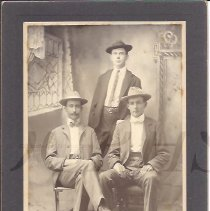 Image of Three Young Men - Bingham Maine Area - 2010.3.93