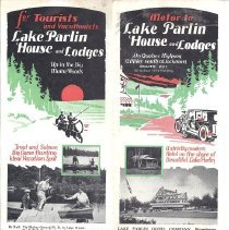 Image of Lake Parlin Brochure Cover - ca. 1930