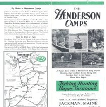 Image of Henderson's Camps Brochure - Jackman ME