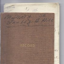 Image of Record Book of Stanley B. Hill with Photos and Notes on Life of Jabez D. Hill - 2010.7.3