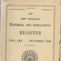 Image of The New England Historical and Genealogical Register, October 1949 - 2010.7.9