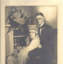 Image of Allan P. and Ruby Frost Robinson, Wedding Portrait 1925