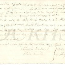 Image of 1880 Directive to Highway Supervisor Granville Goodrich