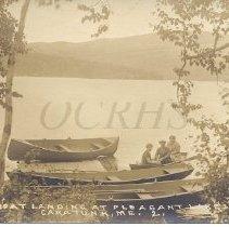 Image of Boat Landing at Pleasant Lake Inn - 2011.23.16