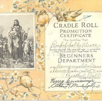 Image of Congregational Church Promotion Certificate, Bingham, ME