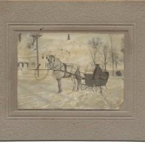 Image of Roy F. Baker in Horse-Drawn Sleigh   - 2011.24.13