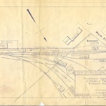 Image of MCRR Blueprint, Temporary Crossing of Mabelle Cooley, Bingham ME 1919 - 2011.24.6