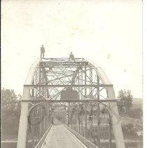 Image of Two Men Standing on the Bingham-Concord Bridge - 2011.9.12