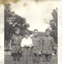 Image of Three World War One Soldiers and An Unidentified Woman - 2014.25.1