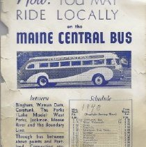 Image of Maine Central Bus Lines - Schedule and Fees - 2014.26.1