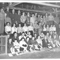 Image of Large Work Crew Posed at Quimby Mill, Bingham, ME - 2015.1.3