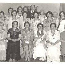Image of Group of Bingham, ME Rebekah Lodge Members ca 1950 - 2015.8.3