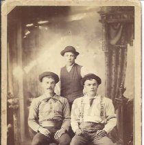 Image of Three Young Men - Howes and Bean - 2001.1.53