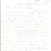 Image of Lucinda Arthur Letter page1