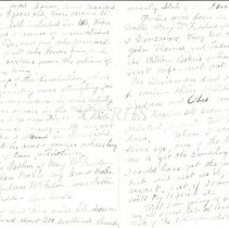 Image of Lucinda Arthur Letter Pges 6 and 7