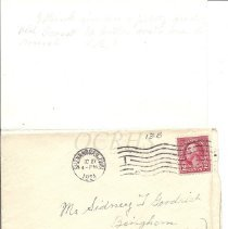 Image of Lucinda Arthur Letter Page 8 and Envelope